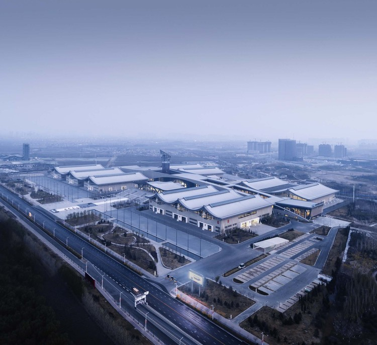 Shijiazhuang International Convention & Exhibition Center / THAD, birdview. Image © Li Yao