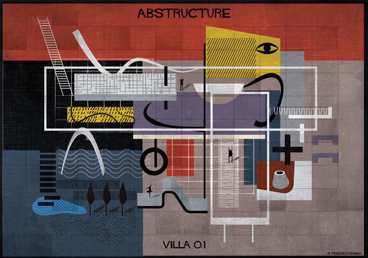 Ilustrações de Federico Babina exploram a abstração do desenho na arquitetura, © Federico Babina