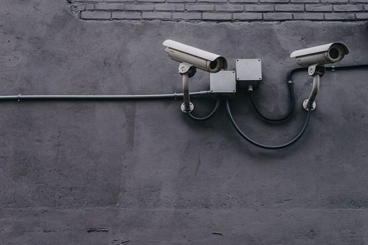 Two Gray Bullet Security Cameras © Scott Webb