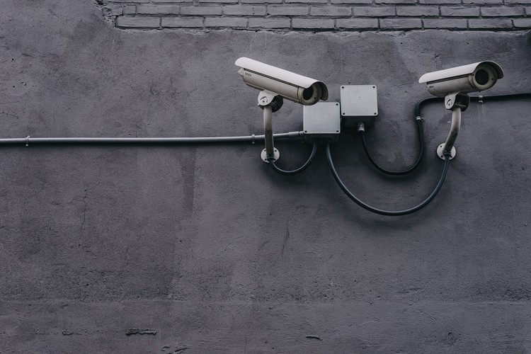 Whose Eyes on the Street / Liu Jian for the Shenzhen Biennale (UABB) 2019, Two Gray Bullet Security Cameras © Scott Webb