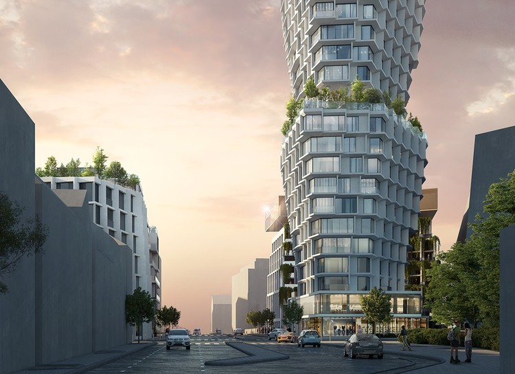 JDSA Wins Competition to Design New Fluted Tower in France,  Féval Tower. Image Courtesy of JDS Architects