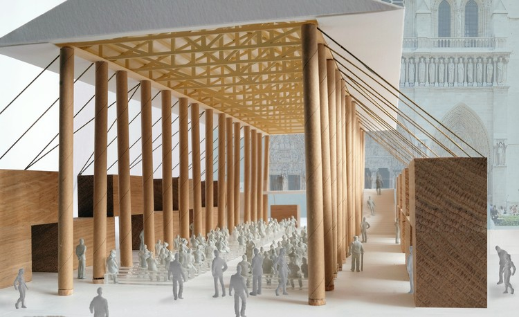 Shigeru Ban diseña pabellón temporal en Notre-Dame, © Shigeru Ban Architects