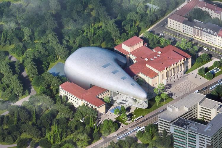 Steven Holl's Czech Concert Hall is an