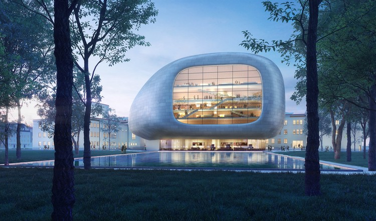 "Steven Holl's Czech Concert Hall is an ""Instrument in its Case"", Courtesy of Steven Holl Architects"