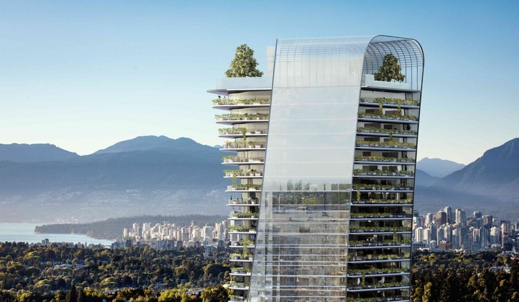 Henriquez Partners Designs Tapered Towers for Vancouver, Oakridge. Image Courtesy of Westbank
