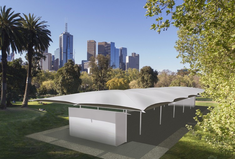 Glenn Murcutt Unveils 2019 MPavilion Design, © Two Feathers