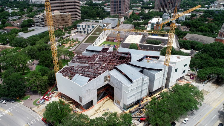 Steven Holl's Kinder Building Tops Out, © McCarthy