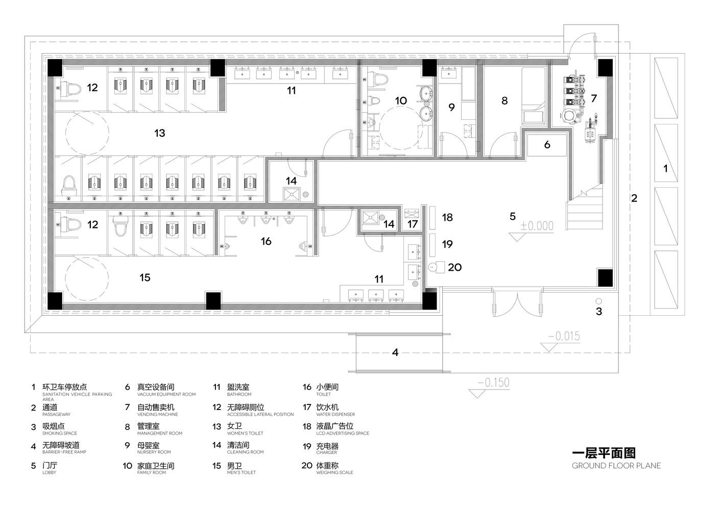 Floor Plan Public Toilet Design Plan