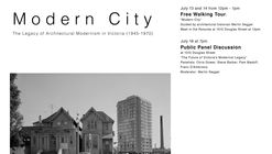 Modern City: The Legacy of Architectural Modernism in Victoria (1945-1970)