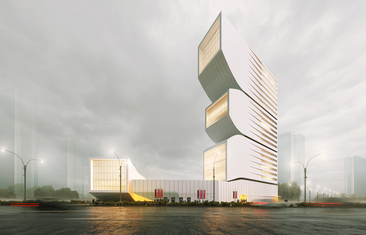 Nextoffice Designs Volumetric Mixed-Use Tower in Iran, © NextOffice – Alireza Taghaboni