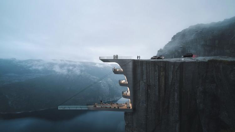 Hayri Atak projeta hotel em um penhasco na Noruega, Cortesia de Hayri Atak Architectural Design Studio