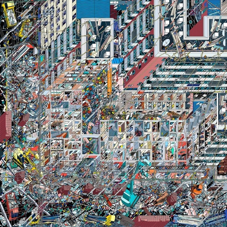 World Architecture Festival call for entries to The 2019 Architecture Drawing Prize, Li Han, 'The Samsara of Building No. 42 on Dirty Street', overall winner of the 2018  Architecture Drawing Prize
