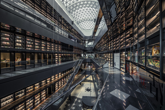 South view of the third floor void area. Image © Weiqi Jin