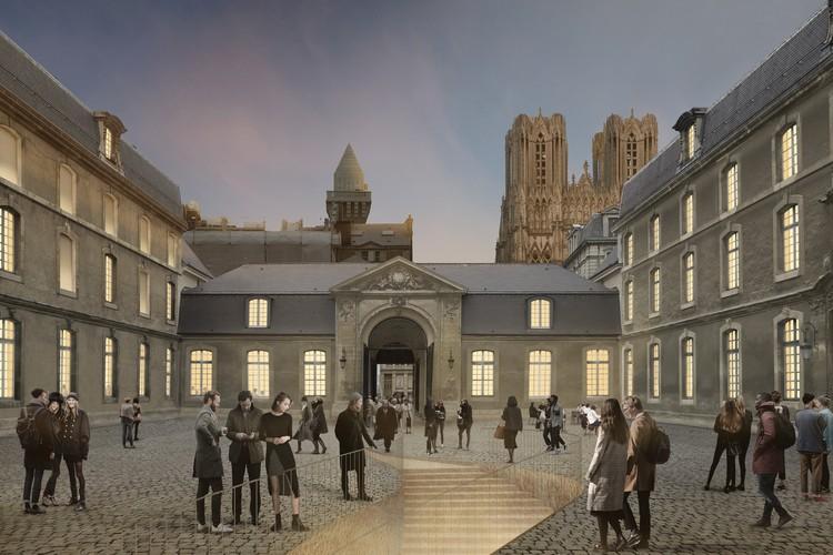 Aires Mateus vence concurso para requalificação do Museu de Belas-Artes de Reims, Cortesia de Atelier Aires Mateus
