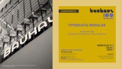 Ciclo Miércoles de la Bauhaus: Conferencia Tipografía Modular