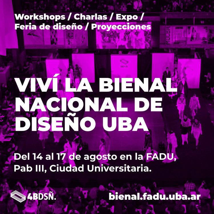 4º Bienal Nacional de Diseño UBA 2019, vía Bienal de Diseño UBA