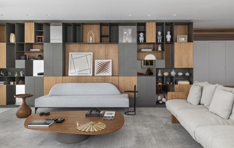 Apartamento Acervo / Sala2 Arquitetura, © Evelyn Muller