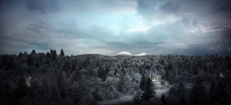 WilkinsonEyre projeta biodomo tropical na Islândia, © WilkinsonEyre