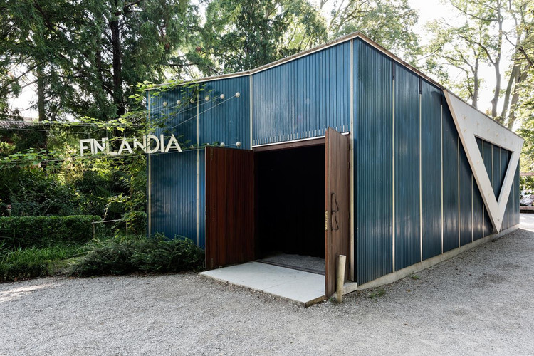 Open Call for Finland's Pavilion at Venice Biennale 2020, The Alvar Aalto -designed Pavilion of Finland in the Giardini, Venice. Image © Ugo Carmeni