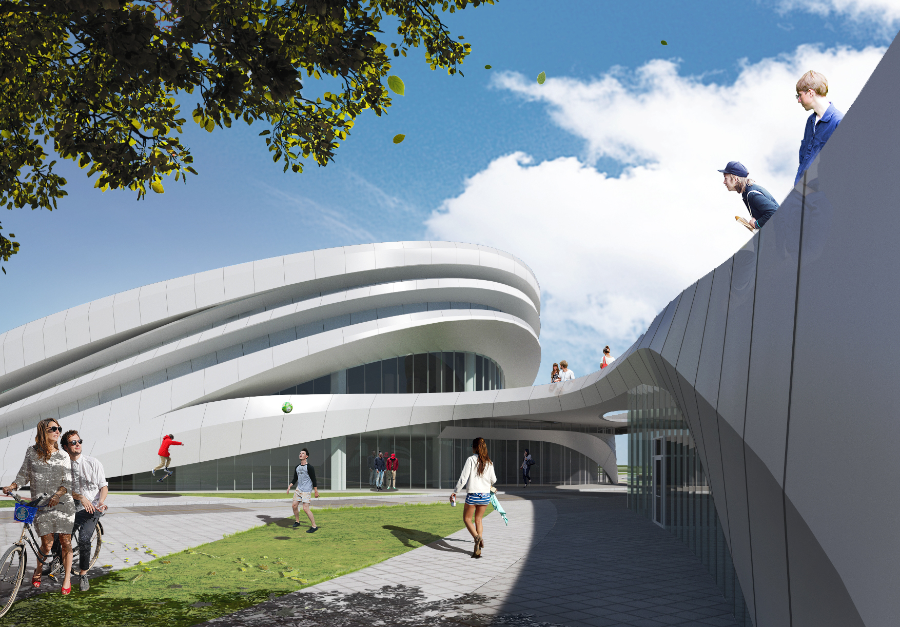 Gallery of ANU Design Group Creates a Three-Dimensional Landscape for the Chungnam Sports Center - 1