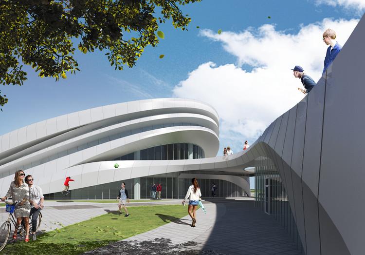 ANU Design Group Creates a Three-Dimensional Landscape for the Chungnam Sports Center, © ANU Design Group