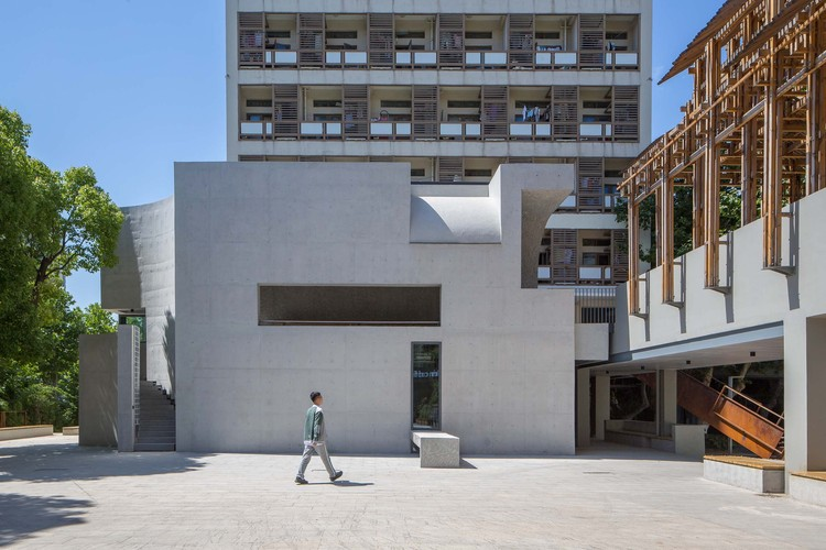 Art Gallery Extension of Nanjing University of the Arts / Zhongsen Architectural & Engineering Designing, exterior. Image © Aurelien Chen