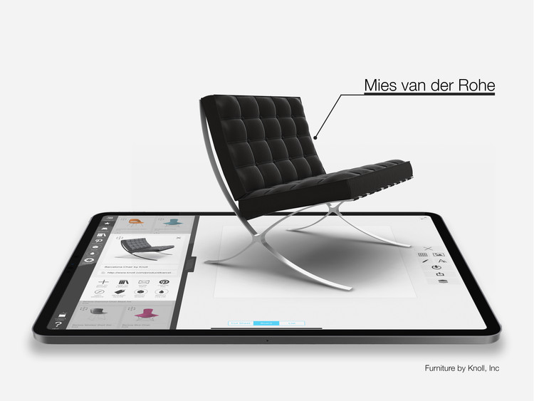 Morpholio Brings Iconic Furniture Designs to Life with Augmented Reality, Courtesy of Morpholio, Theia Interactive and Knoll