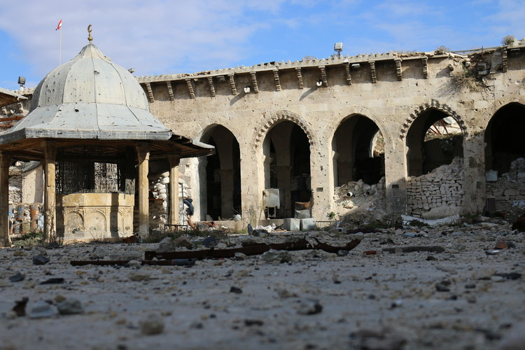 The Great Umayyad Mosque of Aleppo: from Historic Islamic Monument to War Battlefield, Courtesy of SSNP Media Wars