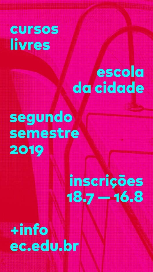 Cursos livres Escola da Cidade 2o. semestre – inscrições abertas, Cursos Livres Escola da Cidade – 2° semestre 2019 – inscrições abertas