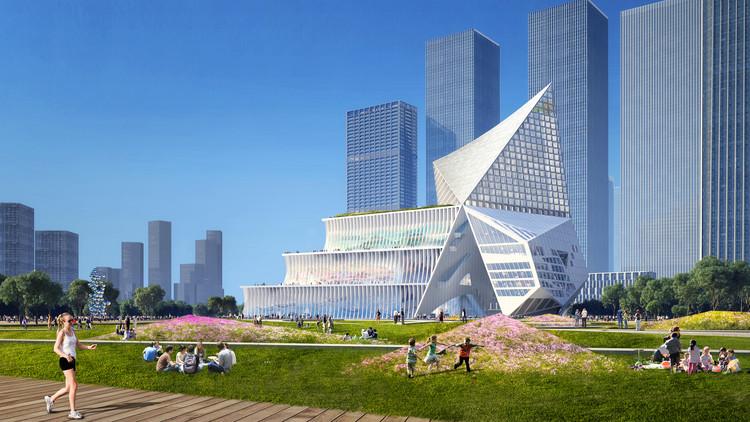 OMA vence concurso para projetar o novo centro financeiro de Shenzhen, Cortesia de OMA