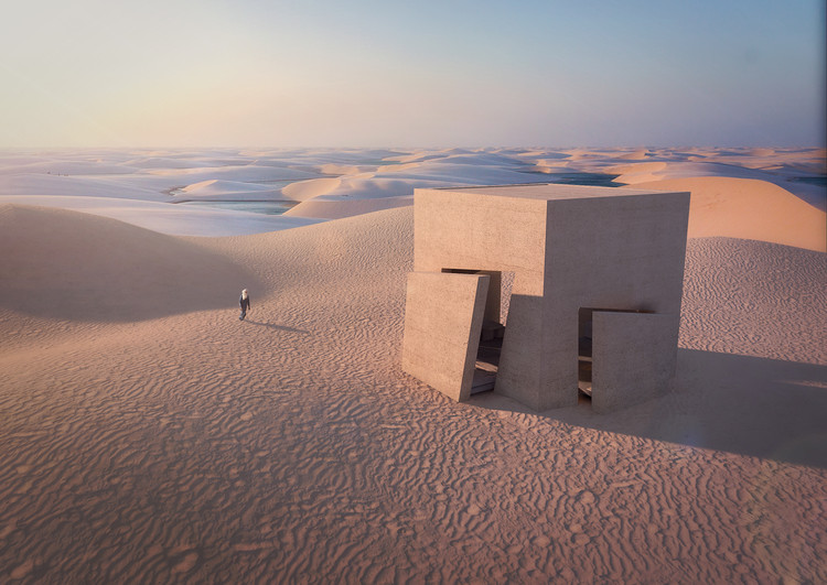Christophe Benichou Architecture Designs Minimalist Desert Residence, Courtesy of Christophe Benichou Architecture