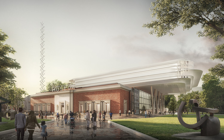 Foster + Partners Wins International Competition for Bilbao Fine Arts Museum, Courtesy of Foster + Partners