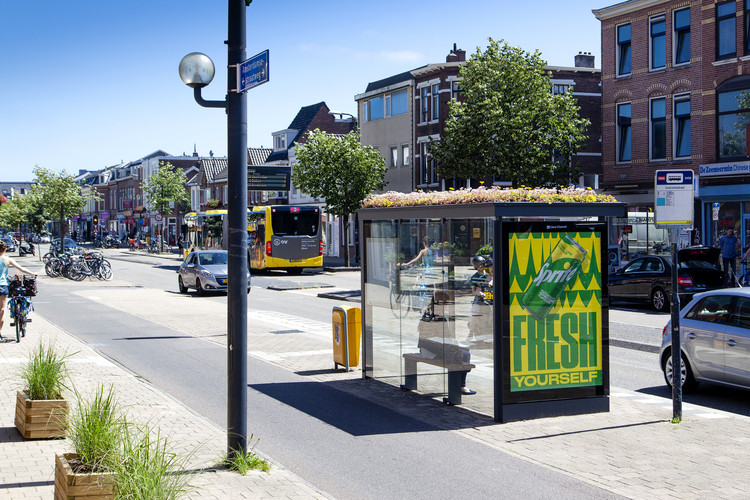 Utrecht Creates 300 Bee-Friendly Bus Stops, © Barbra Verbij / Clear Channel