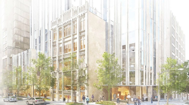 Kengo Kuma Builds Upon Historic Facade in New Seattle Skyscraper, Courtesy of Kengo Kuma & Associates, Ankrom Moisan Architects, Berger Partnership