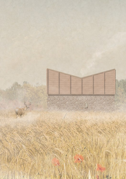 Teamakers Guest House Competition Results Announced, First Prize Winner. Image © Johann Evin