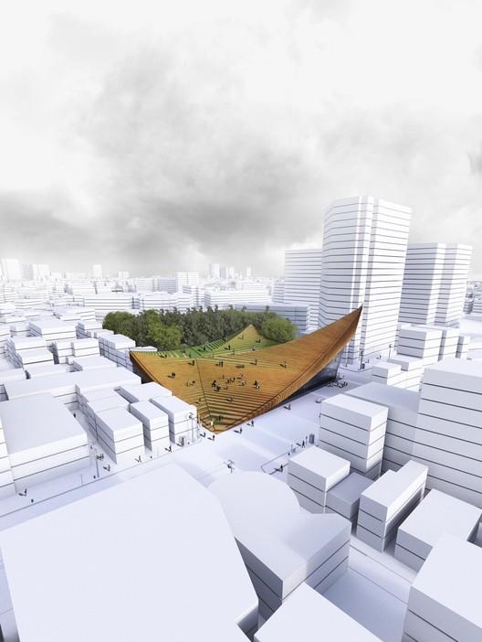 Award-Winning Design of Tokyo Music Hall Transforms Roof into a Public Plaza, © Hajizadeh & Associates