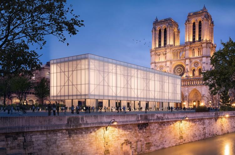Gensler Unveils Temporary Worship Pavilion for Notre Dame, Pavillon Notre-Dame. Image Courtesy of Brick Visual