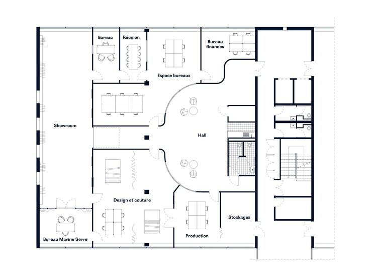 Ateliers Showroom Marine Serre Lemoal Lemoal Architectes