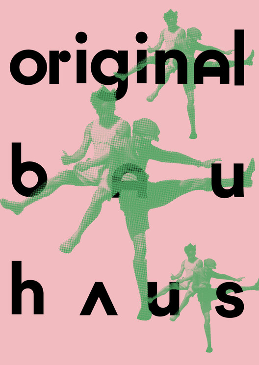 """Original Bauhaus"" - The Centenary Exhibition, Poster ""original bauhaus"", T. Lux Feininger, Jump over the Bauhaus, 1927. © Estate of T. Lux Feininger / Bauhaus-Archiv Berlin"