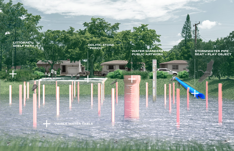 Department Design Office Wins Keeping Current Competition to Fight Flooding in Miami, Good Neighbor. Image Courtesy of Department Design Office