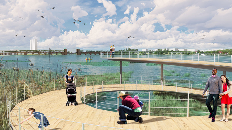 West 8 Wins Middle Branch Competition to Revitalize Baltimore's Waterfront, Courtesy of West 8