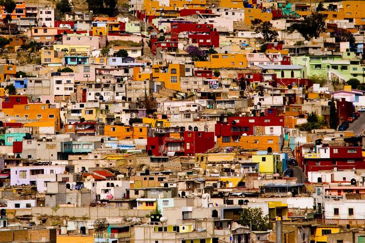 CAU/RJ lança editais de patrocínio cultural e fomento à assistência técnica para habitação, Favela em Pachuca, México. Foto de go vegan go, via Wikipedia. Licença CC BY-SA 2.0