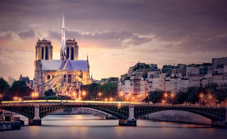 Zeyu Cai e Sibei Li vencem concurso de ideias para a Catedral de Notre-Dame, Paris Heartbeat. Cortesia de Zeyu Cai e Sibei Li