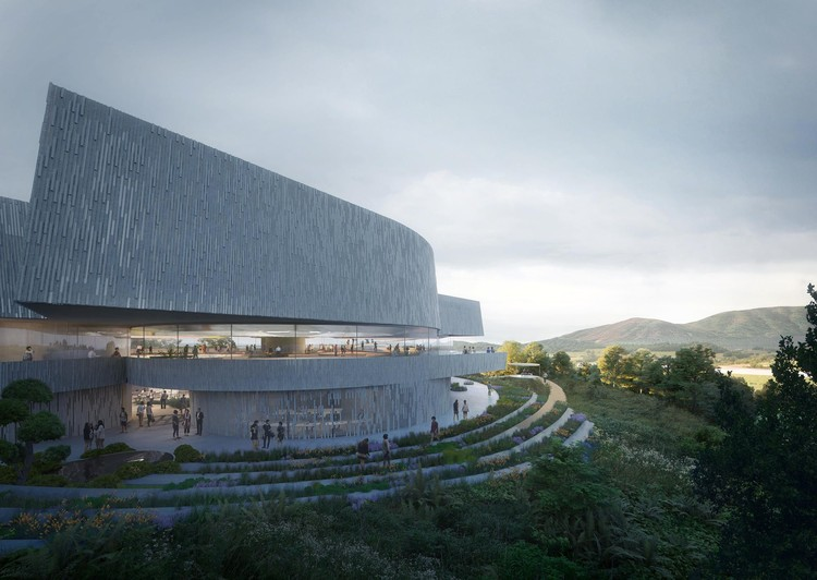 UNStudio Designs a Museum of Spheres in South Korea, The Challenge Museum. Image Courtesy of Plomp
