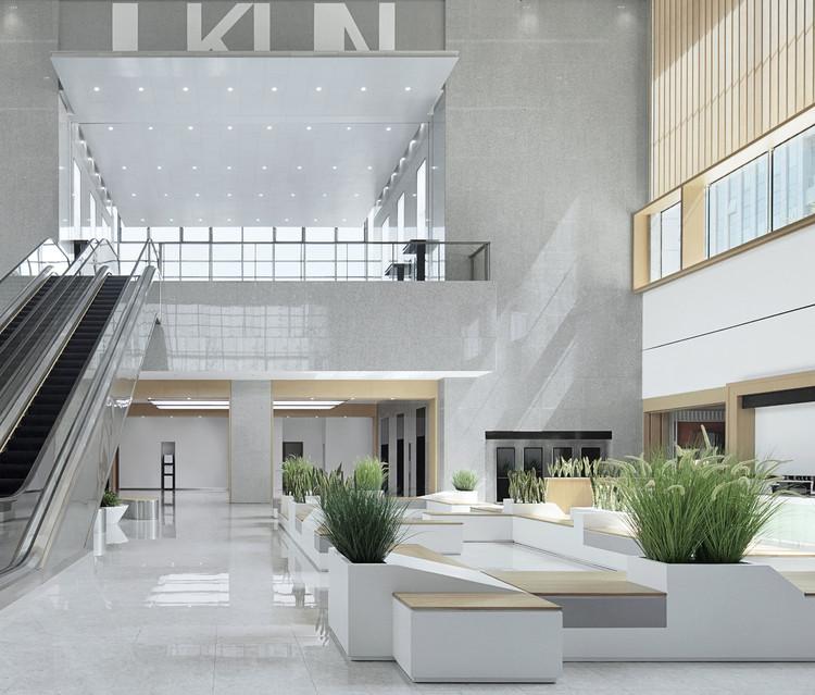 Kunshan Government Affairs Service Centre / SDTD, Public resources trading center hall. Image © Zhi Xia