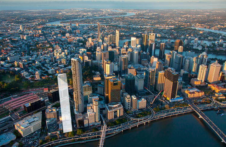REX, SOM and SHoP Among Finalists for $600m Tower in Brisbane, 205 North Quay. Image Courtesy of Cbus Properties