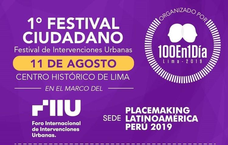 Festival Ciudadano 100En1DíaLima, El Festival 100en1díaLima
