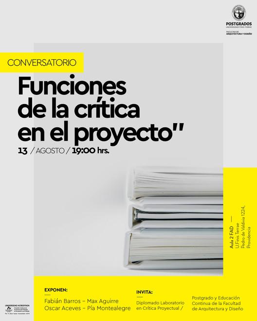 Conversatorio: Funciones de la crítica en el proyecto