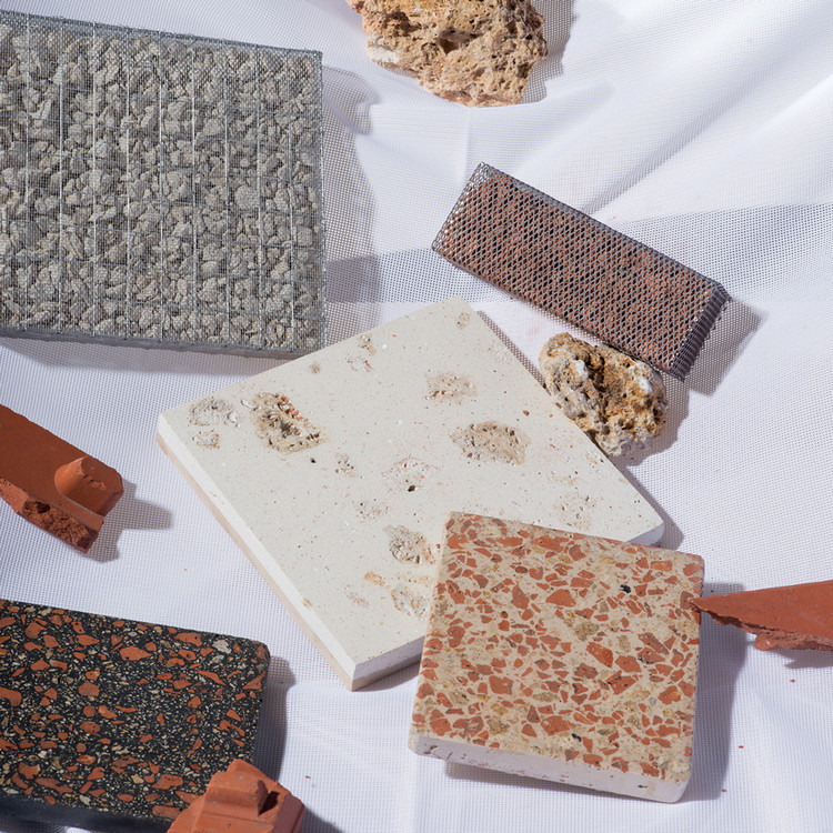 "The Paris Researcher Pioneering a New Way to Recycle Building Materials, The idea of Granito is to establish some level of continuity as buildings are torn down and replaced by others. Saint Pierre, who calls her process ""in situ recycling,"" has so far developed these prototypes for terrazzo building products.. Image © Anna Saint Pierre/Rimasùu"