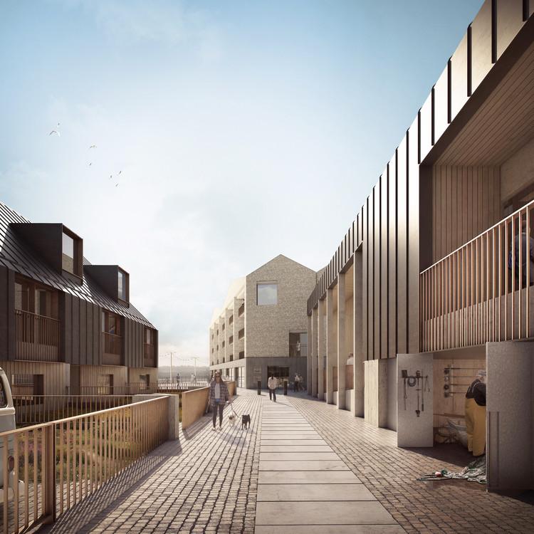 Este proyecto reimagina el patrimonio industrial para revitalizar un sitio portuario de la UNESCO en Inglaterra, Hayle North Quay. Imagen cortesía de Forbes Massie